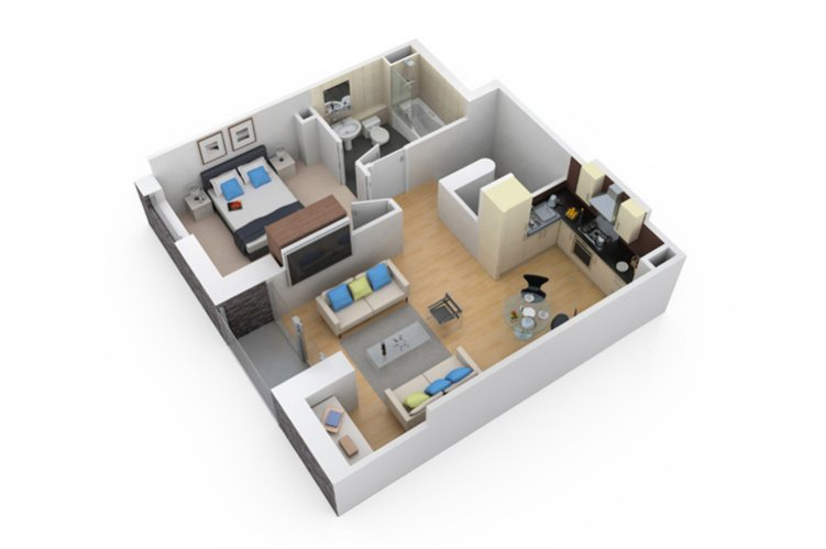 3d floor plan 3 - 3d Plan Drawing
