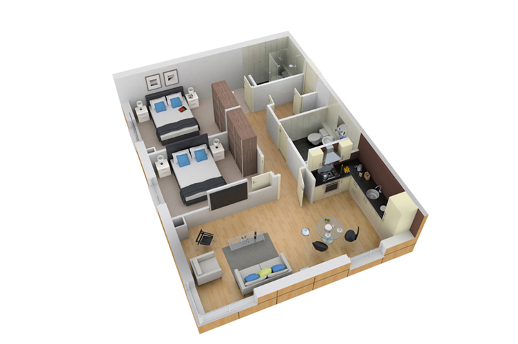 3D Floor Plans Designer | 3D Architectural Floor Plans| Wedrawfast